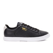 Puma Men's Tennis Court Star Crafted Low Top Trainers - Black/Glacier