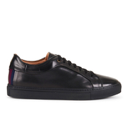 Paul Smith Shoes Men's Nastro Leather Cupsole Trainers - Nero