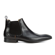Paul Smith Shoes Men's Falconer Leather Chelsea Boots - Black Oxford