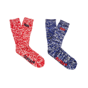 Superdry Men's Double Pack Hiker Socks - Cobalt Blue Twist/Poppy Red Twist