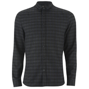 Religion Men's Long Sleeve Checked Shirt - Blue/Black