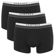 Versace Men's 3 Pack Trunk Boxers - Black