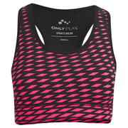 ONLY Women's Genna Sports Bra - Hot Pink