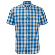 Fjallraven Men's Ovik Button Down Short Sleeve Shirt - Lake Blue