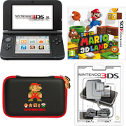 Nintendo 3DS XL Black + Super Mario 3D Land Pack