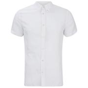 J.Lindeberg Men's Short Sleeve Linen Shirt - White