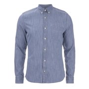 J.Lindeberg Men's Denim Long Sleeve Shirt - Light Indigo