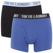 Tokyo Laundry Men's Tasmania 2 Pack Boxers - Ocean/Black