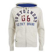 Tokyo Laundry Men's Harlem Cove Zip Through Hoody - Oatmeal Marl