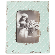 Bark & Blossom Blue Ceramic Photoframe