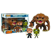 Figura Pop! Vinyl Bobblehead Star Wars Rancor, Luke y Oola Previews Exclusivo (Pack de 3)