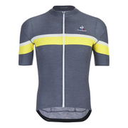 Le Coq Sportif Performance Merino Stripes Short Sleeve Jersey - Blue