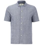 Folk Men's New Piano Short Sleeved Shirt - Tile Check