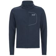 Jack Wolfskin Men's Caribou Fleece Track Jacket - Night Blue