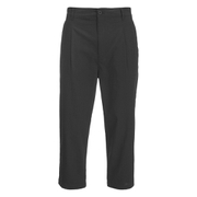 Helmut Lang Men's Seersucker Cropped Trousers - Black