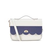The Cambridge Satchel Company Women's Cloud Bag with Handle - Stripe Clay/Navy Stripe