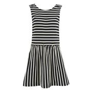 Maison Kitsuné Women's Marin Bali Dress - Black/White