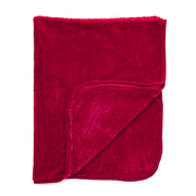 Luxurious Mink Faux Fur Throw - Red