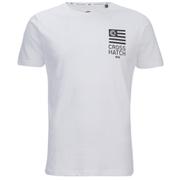 Crosshatch Men's Formalhaut Back Print T-Shirt - White