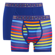 Crosshatch Men's Refracto 2-Pack Boxers - Multi/Sapphire