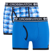 Crosshatch Men's Pixflix 2-Pack Boxers - Directoire Blue