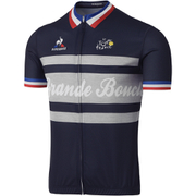 Le Coq Sportif Men's Tour de France Grande Boucle Short Sleeved Jersey - Blue