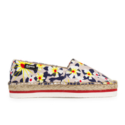 Jil Sander Navy Women's Graphic Flowers Espadrilles - Red/White