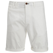 Scotch & Soda Men's Twill Chino Shorts - White