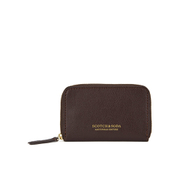 Scotch & Soda Men's Leather Coin Wallet - Brown