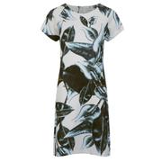 Munthe Women's Estragon Neoprene Leaf Print Dress - Blue