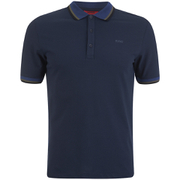 HUGO Men's Darese Collar Detail Polo Shirt - Navy