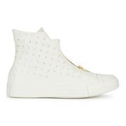 Converse Women's Chuck Taylor All Star Leather Shroud Hi-Top Trainers - Egret