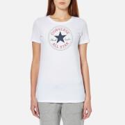 Converse Women's Chuck Patch Crew T-Shirt -Converse White