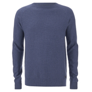 Threadbare Men's Tallin Raglan Crew Neck Jumper - Denim Marl