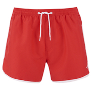 Threadbare Men's Basic Peach Retro Swim Shorts - Heritage Red