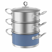 Morphy Richards 973043 3 Tier Steamer - Cornflower Blue - 18cm