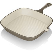 Tower IDT90006 Cast Iron Square Grill Pan - Latte - 24cm