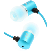 KitSound Ace Earphones With In-Line Mic - Blue