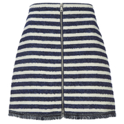 Sonia by Sonia Rykiel Women's Tweed Striped Skirt - Navy/Ecru