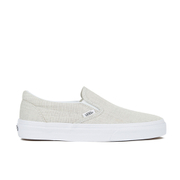 Vans Women's Classic Slip-on Chambray Trainers - Grey/True White