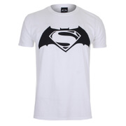 DC Comics Batman vs. Superman Logo Herren T-Shirt - Weiss
