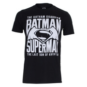 DC Comics Men's Batman v Superman Gotham Guardian T-Shirt - Black