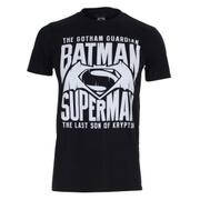 DC Comics Men's Batman v Superman Gotham Guardian T-Shirt - Black