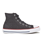 Converse Women's Chuck Taylor All Star Crochet Hi-Top Trainers - Almost Black/White