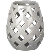 Parlane Beatrix Ceramic Candle Holder - Grey