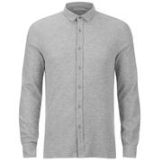 Selected Homme Men's Union Long Sleeve Shirt - Light Grey Melange