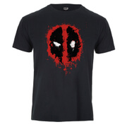 Marvel Deadpool Men's Paint Logo T-Shirt - Black