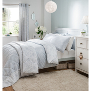 Catherine Lansfield Birds and Flowers Bedding Set - Duck Egg