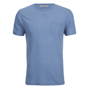 Brave Soul Men's Arkham Pocket T-Shirt - Light Blue Marl