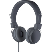 Goodmans On Ear Headphones with In-Line Mic & Remote - Grey